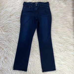 NYDJ Marilyn Straight Jeans dark stretch tummy 12